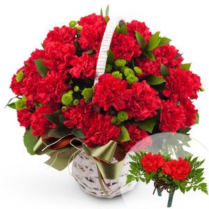 카네이션꽃다발